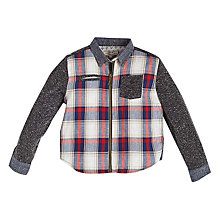 Buy Angel & Rocket Boys' Brushed Check Shirt Jacket, Black/Red Online at johnlewis.com