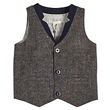 Buy Angel & Rocket Boys' Tweed Waistcoat, Grey Online at johnlewis.com
