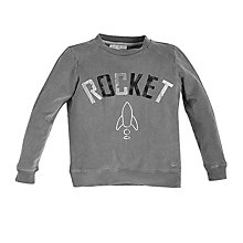 Buy Angel & Rocket Boys' Rocket Print Jumper, Grey Online at johnlewis.com