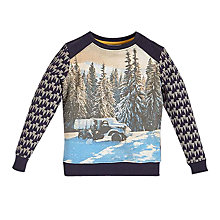 Buy Angel & Rocket Boys' Cassius Photo Print Sweatshirt, Charcoal Online at johnlewis.com