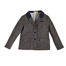 Buy Angel & Rocket Boys' Tweed Jacket, Grey Online at johnlewis.com