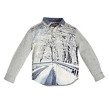 Buy Angel & Rocket Boys' Photo Print Shirt, Grey Online at johnlewis.com