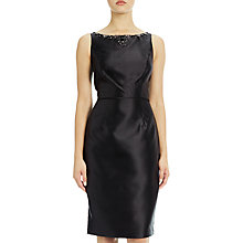 Buy Adrianna Papell Mikado Shift Dress With Beading, Black Online at johnlewis.com