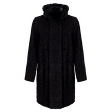 Buy Four Seasons Astrakan Coat, Black Online at johnlewis.com