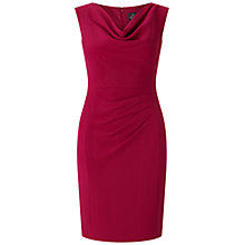 Buy Adrianna Papell Petite Draped Sheath Dress, Magenta Online at johnlewis.com