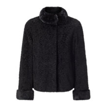Buy Four Seasons Astrakan Jacket, Black Online at johnlewis.com