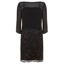 Buy Mint Velvet Layered Lace Dress, Black Online at johnlewis.com