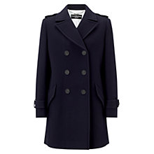 Buy Four Seasons Reefer Coat, Navy Online at johnlewis.com