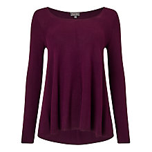Buy Phase Eight Amelia Swing Jumper, Blackcurrant Online at johnlewis.com