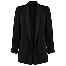 Buy Phase Eight Aleia Satin Back Crepe Jacket, Black Online at johnlewis.com
