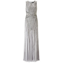 Buy Adrianna Papell Petite Sleeveless Fully Beaded Gown, Bridal Silver Online at johnlewis.com
