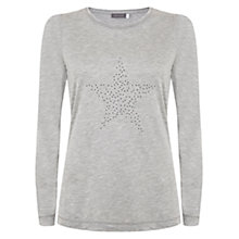 Buy Mint Velvet Flori Print T-Shirt, Grey Online at johnlewis.com