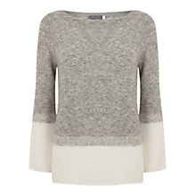 Buy Mint Velvet Flared Sleeve Rib Knit Jumper, Grey Online at johnlewis.com