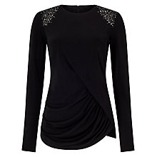 Buy Phase Eight Ebony Embellished Top, Black Online at johnlewis.com