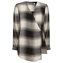 Buy Mint Velvet Zip Front Fine Check Top, Multi Online at johnlewis.com