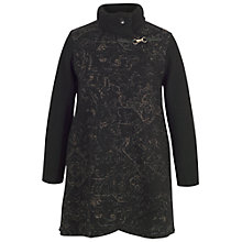 Buy Chesca Cable Collar Baroque Coat, Black Online at johnlewis.com