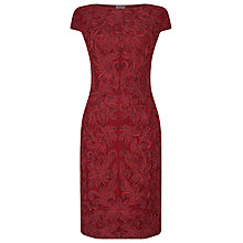 Buy Phase Eight Cornia Tapework Dress, Scarlet/Black Online at johnlewis.com