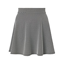 Buy Miss Selfridge Petite Spot Skater Skirt, Black Online at johnlewis.com