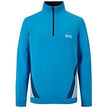 Buy BOSS Green Pro Golf Collection Zelchior Zip Sweater, Open Blue Online at johnlewis.com