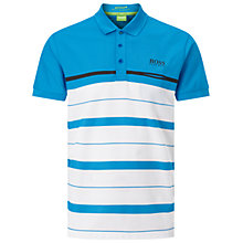 Buy BOSS Green Pro Golf Paule Pro 1 Polo Shirt, Open Blue Online at johnlewis.com