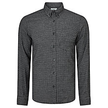 Buy J. Lindeberg Daniel Check Long Sleeve Cotton Shirt, Black/White Online at johnlewis.com