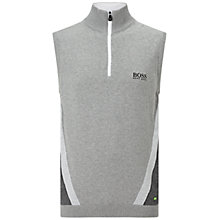 Buy BOSS Green Pro Golf Zagi Pro Knitted Sleeveless Vest, Light Pastel Grey Online at johnlewis.com