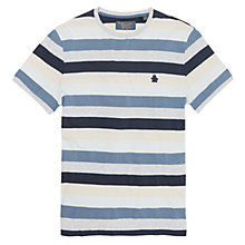 Buy Original Penguin Retro Auto Stripe T-Shirt, Blue Online at johnlewis.com