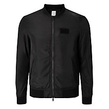 Buy J. Lindeberg Thom Gravity Bomber Jacket, Black Online at johnlewis.com