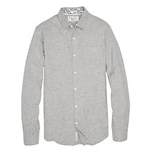 Buy Original Penguin Brushed Oxford Fleck Shirt, Rain Heather Online at johnlewis.com