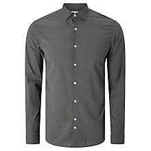 Buy J. Lindeberg Daniel Geo Print Long Sleeve Cotton Shirt, Steel Online at johnlewis.com