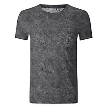 Buy J. Lindeberg Sev Print Crew Neck T-Shirt, Black Online at johnlewis.com