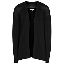 Buy Reiss Dexie Sheer Mix Cardigan, Black Online at johnlewis.com