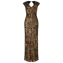 Buy Phase Eight Collection 8 Alexi Sequin Full Length Dress, Bronze Online at johnlewis.com