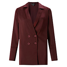 Buy Miss Selfridge Satin Tux Jacket, Burgundy Online at johnlewis.com