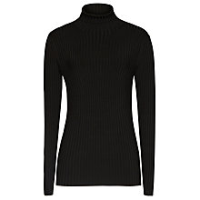 Buy Reiss Olins Tipped Neck Jumper, Black/Off White Online at johnlewis.com