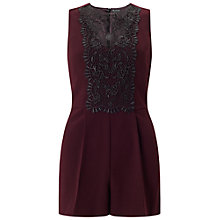 Buy Miss Selfridge Petite Lace Playsuit Online at johnlewis.com