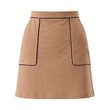 Buy Miss Selfridge Petite A-Line Mini Skirt, Camel Online at johnlewis.com