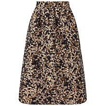 Buy Miss Selfridge Petite Animal Print Jacquard Midi Skirt, Mid Brown Online at johnlewis.com