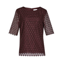 Buy Reiss Dee Lace Top Online at johnlewis.com
