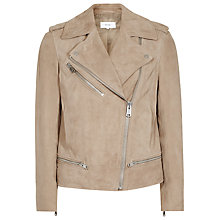 Buy Reiss Daye Suede Jacket, Neutral Online at johnlewis.com