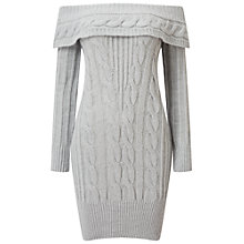 Buy Miss Selfridge Cable Knit Bardot Dress Online at johnlewis.com
