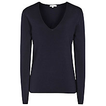 Buy Reiss Bess Textured Jumper, Navy Online at johnlewis.com