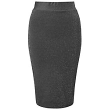 Buy Miss Selfridge Metallic Pencil Skirt, Silver Online at johnlewis.com