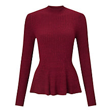 Buy Miss Selfridge Godet Peplum Top Online at johnlewis.com