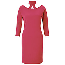 Buy Miss Selfridge Choker Neck Dress, Bubblegum Online at johnlewis.com