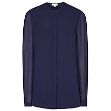 Buy Reiss Balas Placket Detail Blouse Online at johnlewis.com