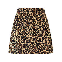 Buy Miss Selfridge Petite Animal Print Mini Skirt, Multi Online at johnlewis.com