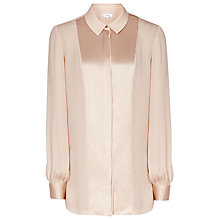 Buy Reiss Ella Satin Panel Top, Light Apricot Online at johnlewis.com