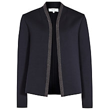 Buy Reiss Monia Short Neoprene Jacket, Night Navy Online at johnlewis.com