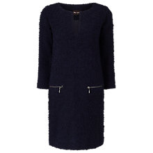 Buy Phase Eight Natala Notch Neck Dress, Navy Online at johnlewis.com